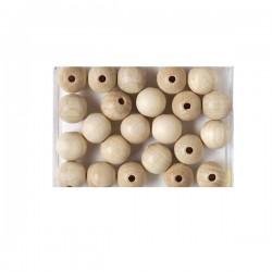 Drvene kuglice za dekoriranje 15mm, 20kom