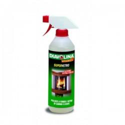 DIAVOLINA - Supervetro - Tekućina za čišćenje staklenih površina na kaminima i pećima